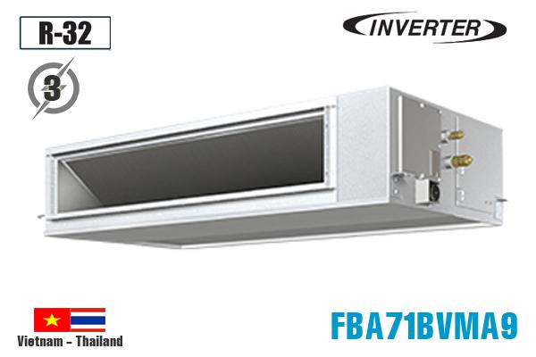 Điều hòa âm trần nối ống gió Daikin 24.000BTU 1 chiều inverter 3 pha FBA71BVMA9/RZF71CYM