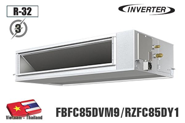 Điều hòa âm trần nối ống gió Daikin 30.000BTU 1 chiều inverter 3 Pha FBFC85DVM9/RZFC85DY1